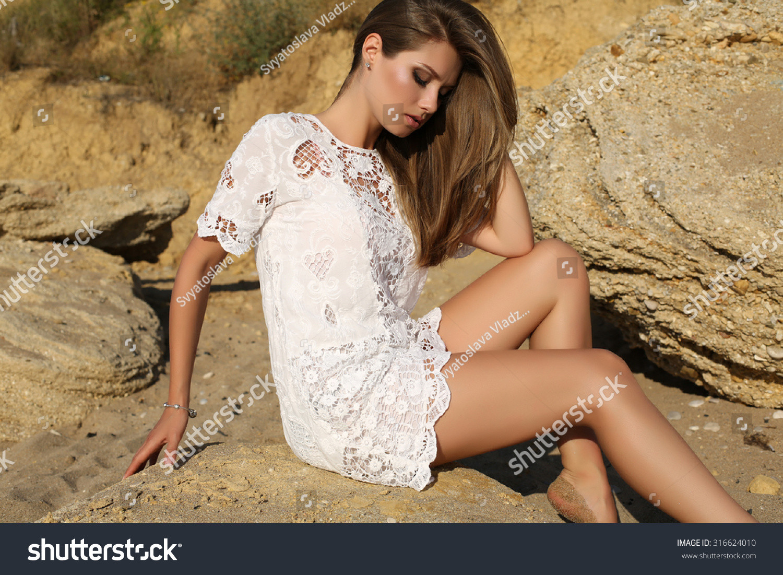 e52ac5777ba Fashion Outdoor Photo Beautiful Sexy Girl Stock Photo (Edit Now ...