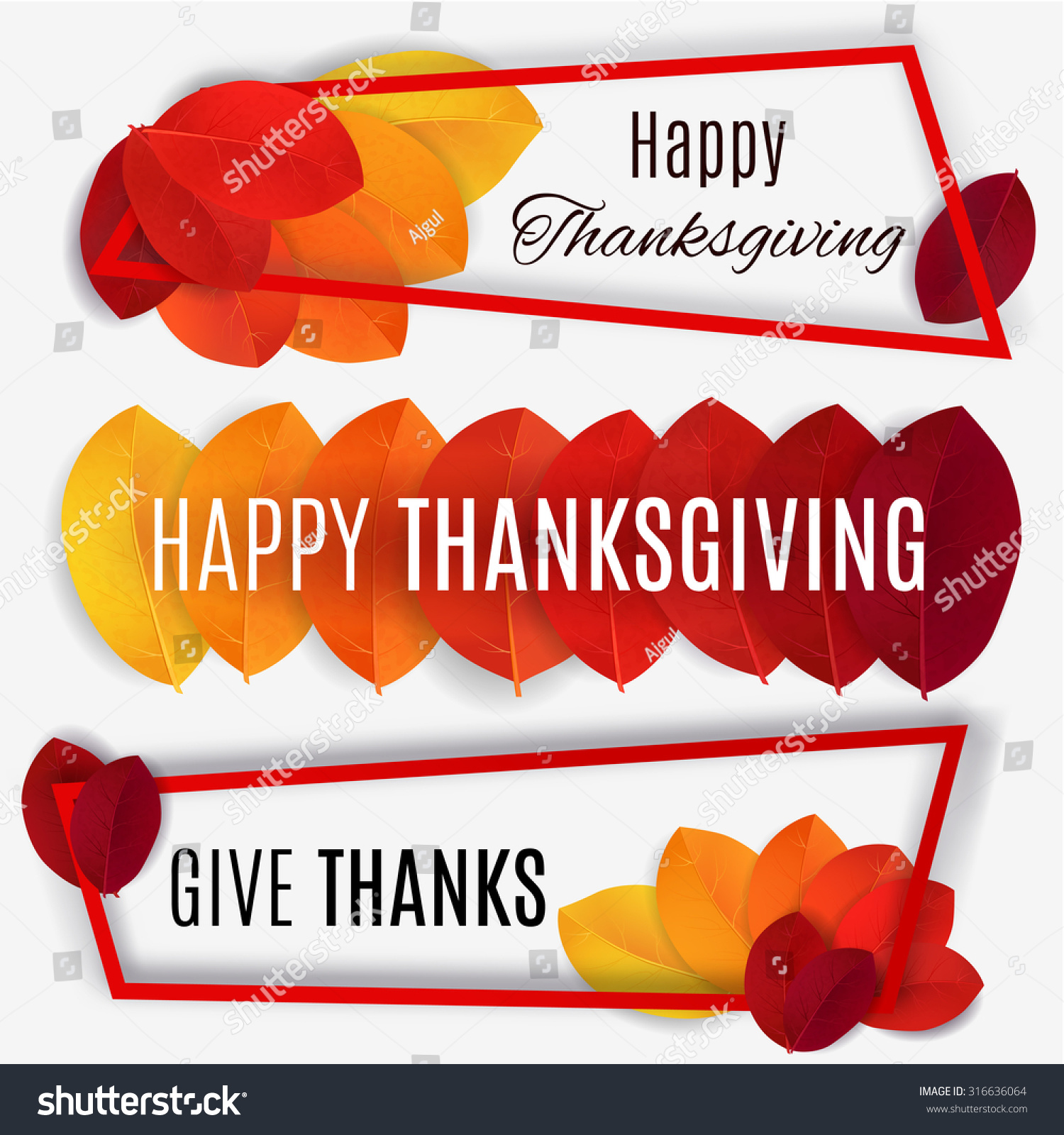 Happy Thanksgiving Banner Background Vector Stock 316636064