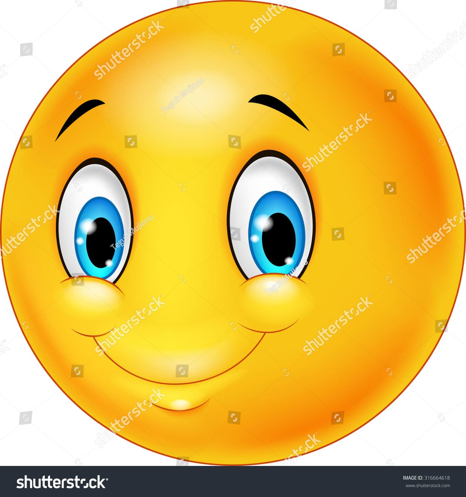 Cartoon emoticon smile on transparent background stock cartoon emoticon smile on transparent background buycottarizona Choice Image