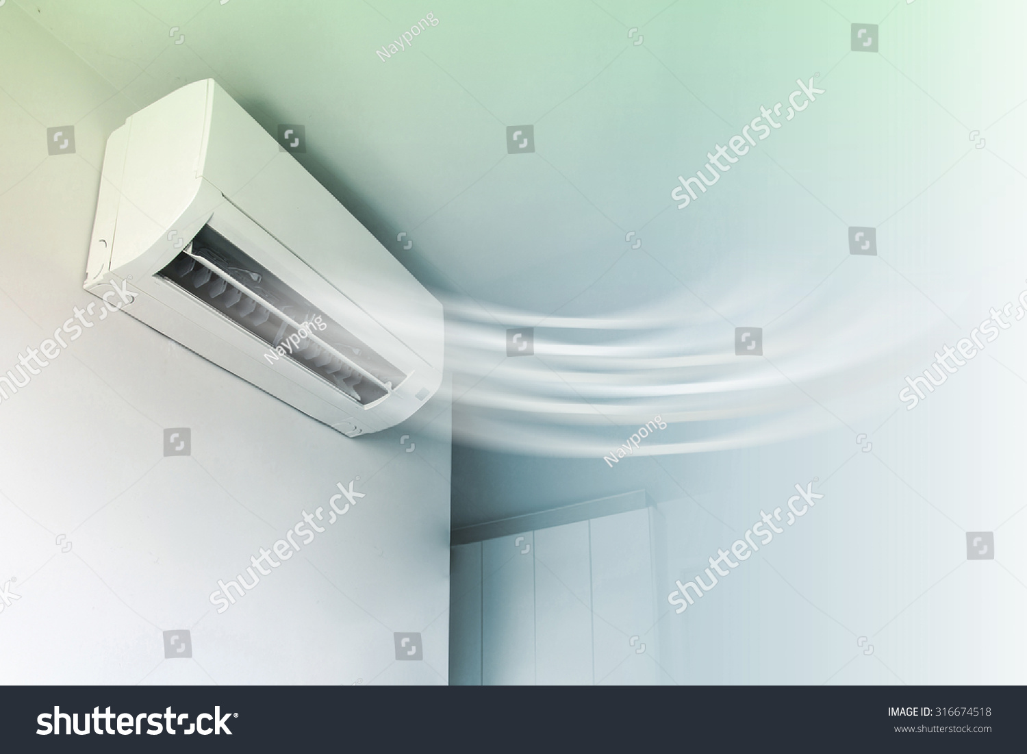 Air Conditioner On Wall Background Stock Photo 316674518  #647952