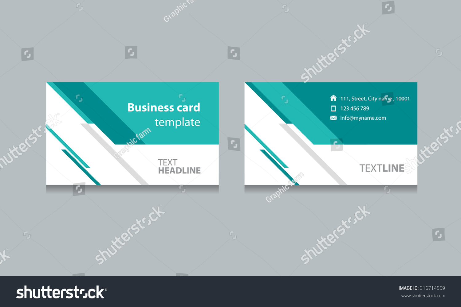 Abstract Business Card Template Design Backgrounds Stock Vector ...