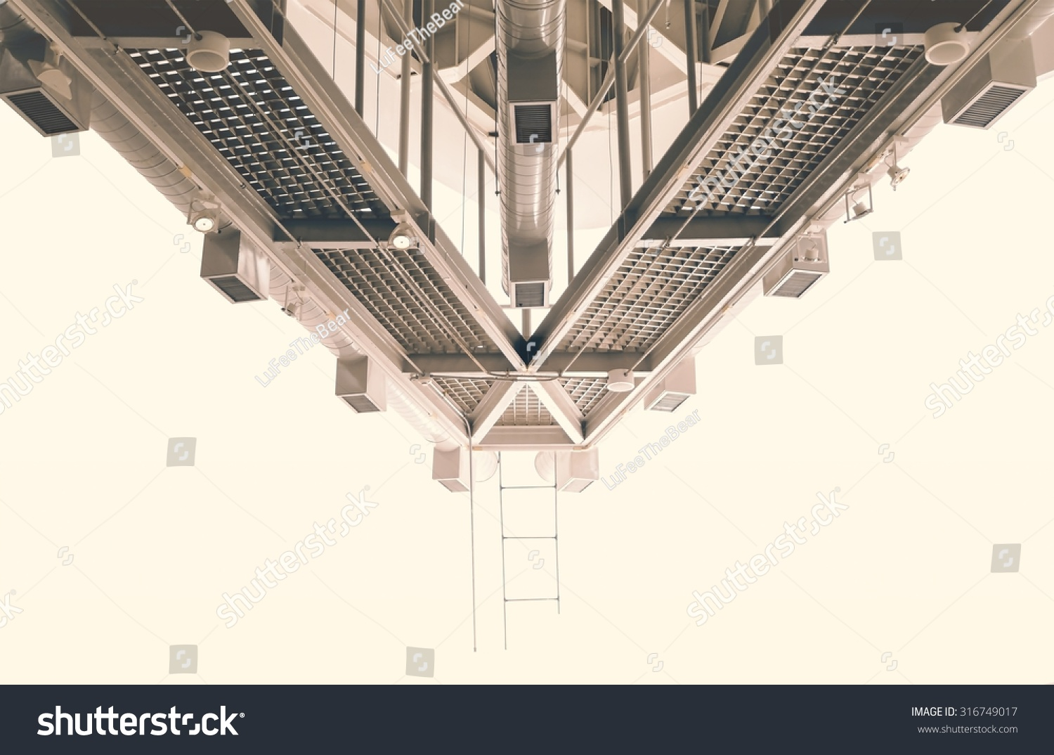 Abstract Air Distribution System Lighting Used Color Stock Photo Diagram Tool Of And Lightingused For Vintage Tone