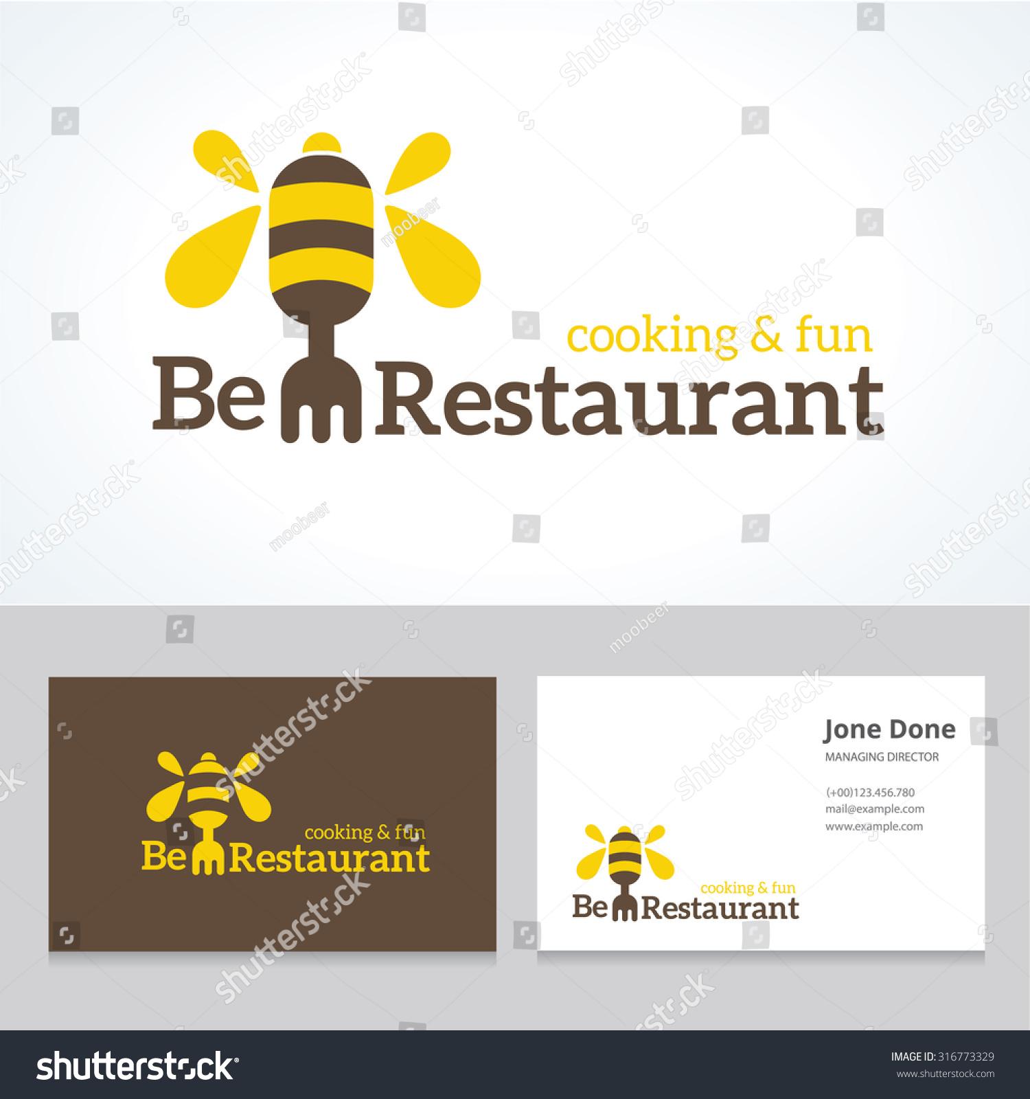 Bee Business Card Vector Logo Template Stock Vector (2018) 316773329 ...