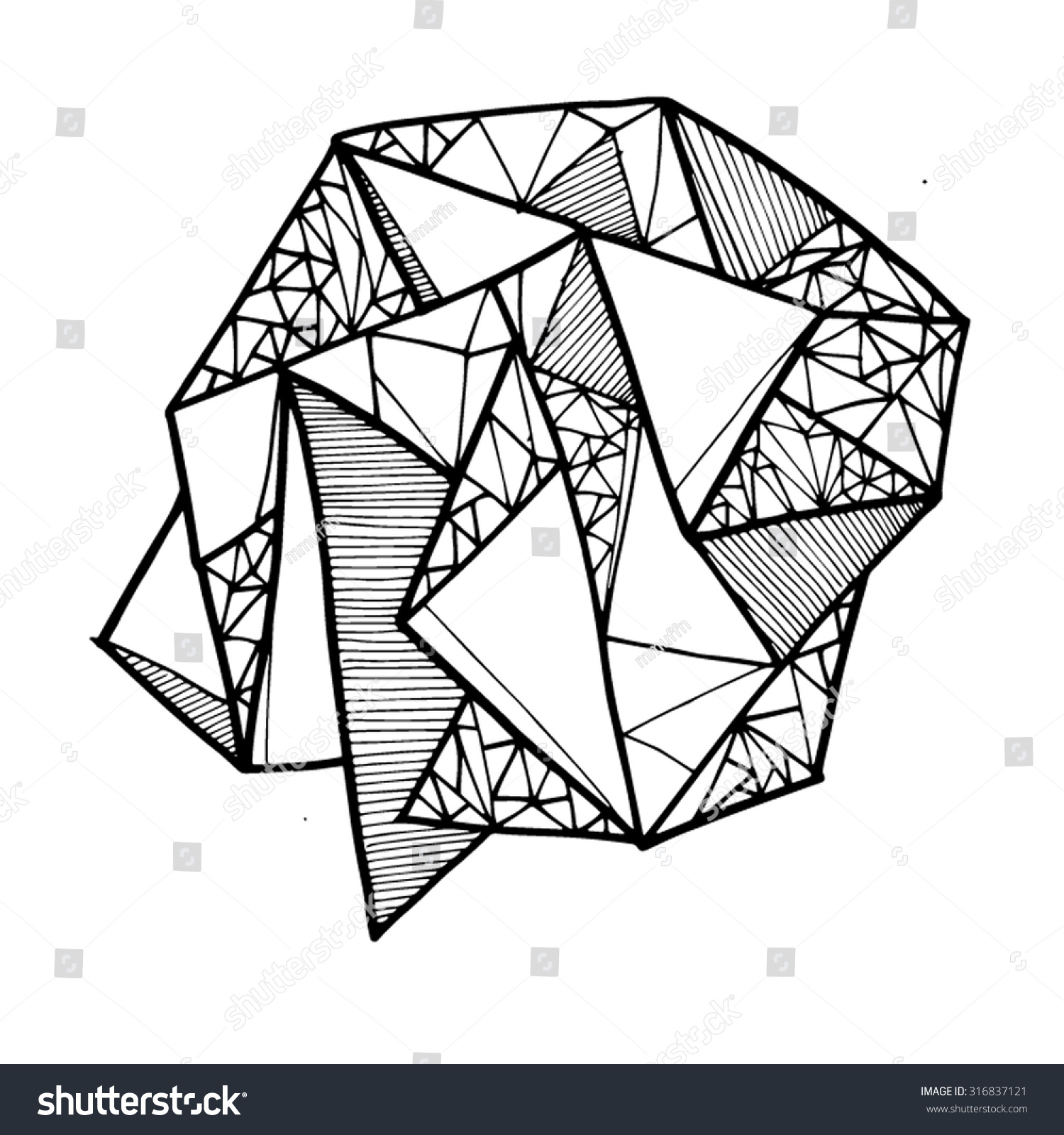 Line And Shape Art : Geometric shape lines lineart shapes line stock vector