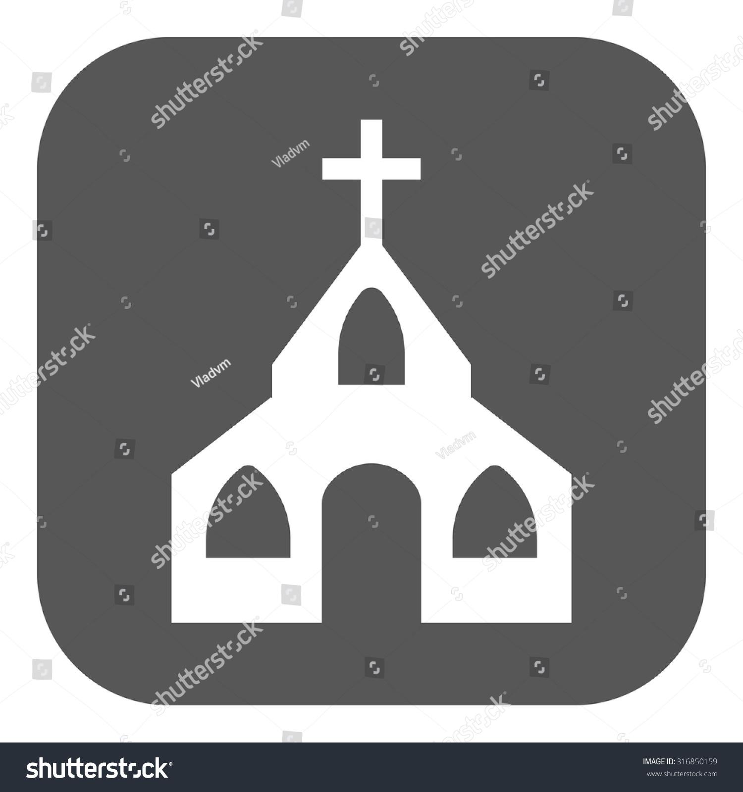 Church icon christian god catholic faith stock vector 316850159 the church icon christian and god catholic faith symbol flat vector illustration biocorpaavc