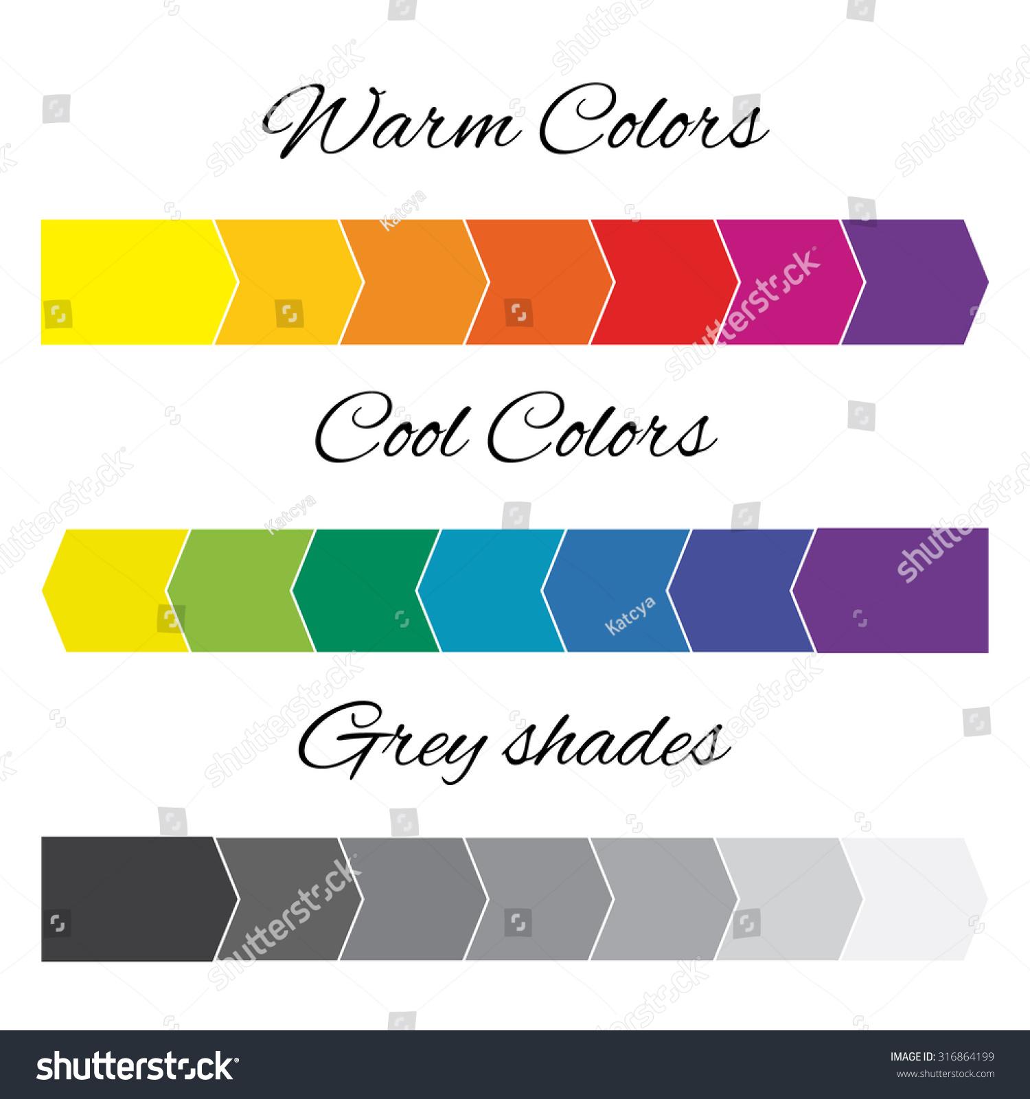 warm colors cool colors shades grey のベクター画像素材
