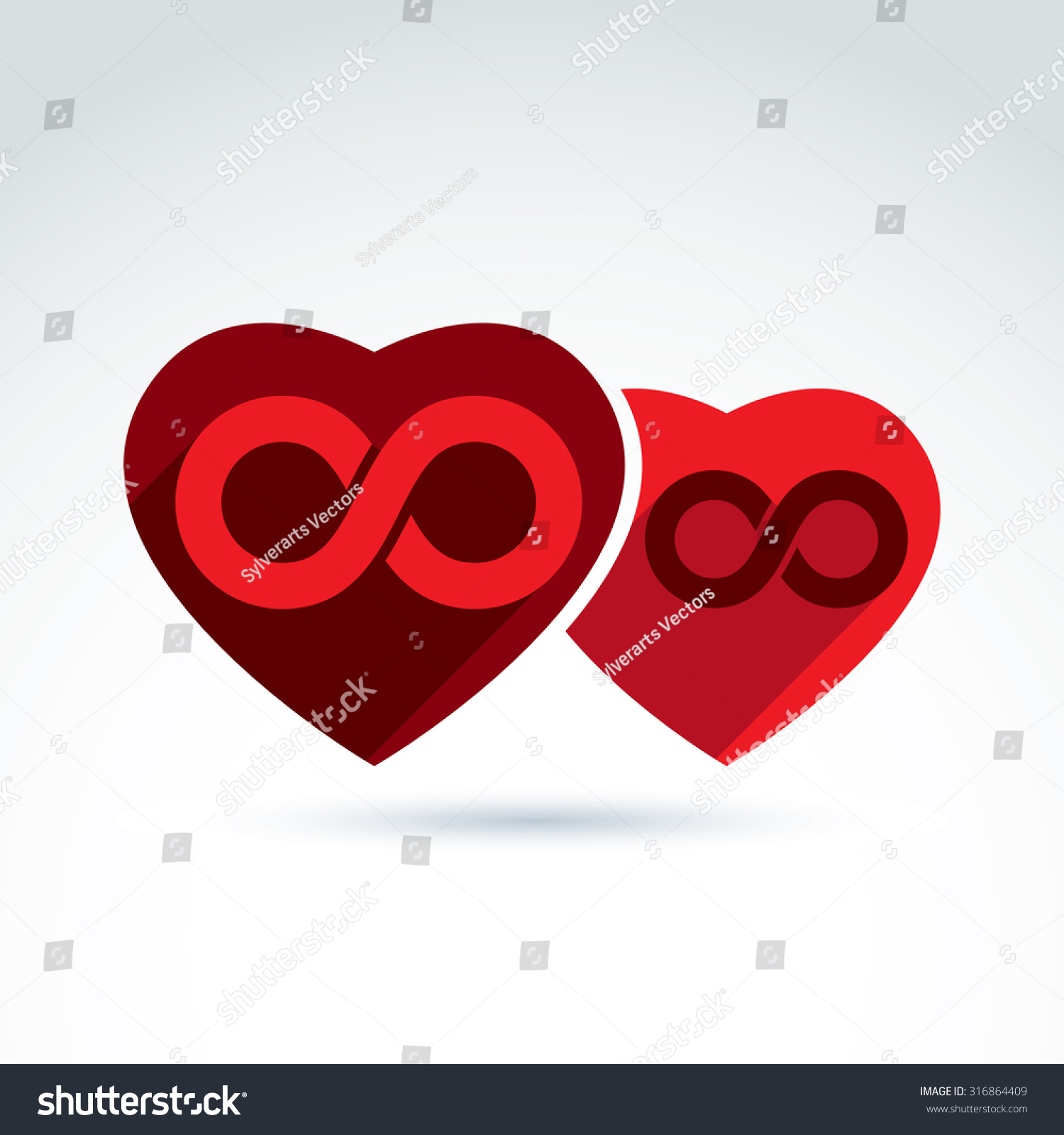 Vector infinity icon illustration eternity symbol stock vector vector infinity icon illustration of an eternity symbol placed on red heart love forever biocorpaavc