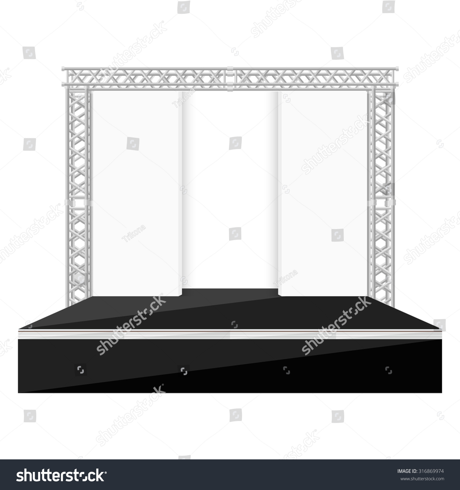 Empty outdoor concert stage -  Concert Stage Empty Outdoor Rock Stage Outdoor Stage Stock Vectors Vector Clip Art