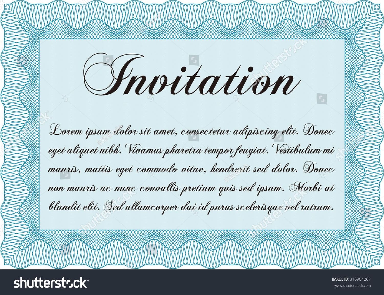 Formal invitation border framebeauty design complex stock vector formal invitation border frameauty design complex background stopboris Choice Image