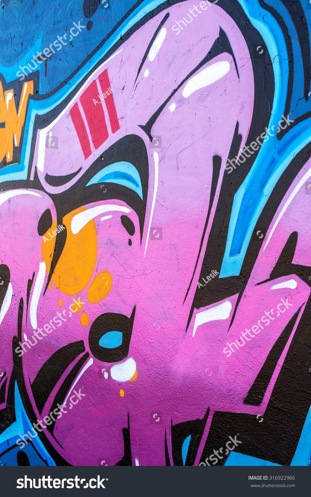 Beautiful Street Art Graffiti Abstract Color Stock Photo (Edit Now ...