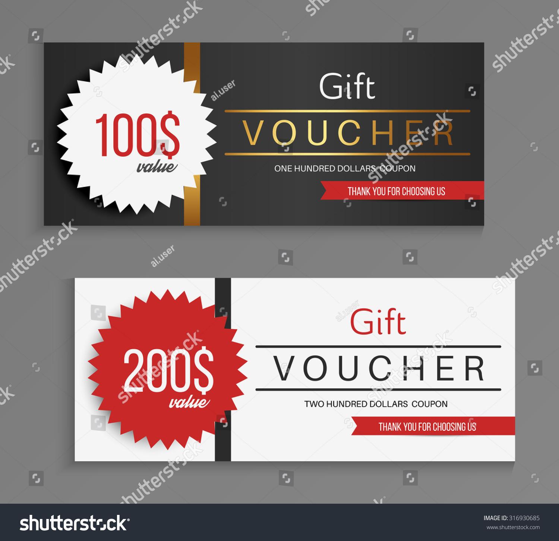 Gift Voucher Template Vector Illustration Stock Vector 316930685 ...