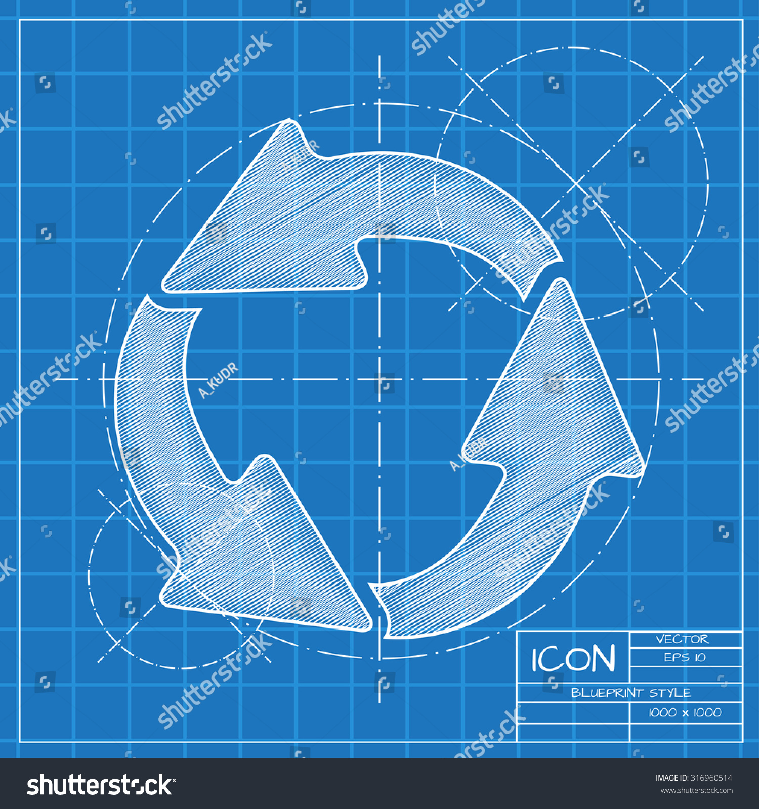 Vector blueprint circle round arrows business stock vector 316960514 vector blueprint circle round arrows business stock vector 316960514 shutterstock malvernweather Choice Image