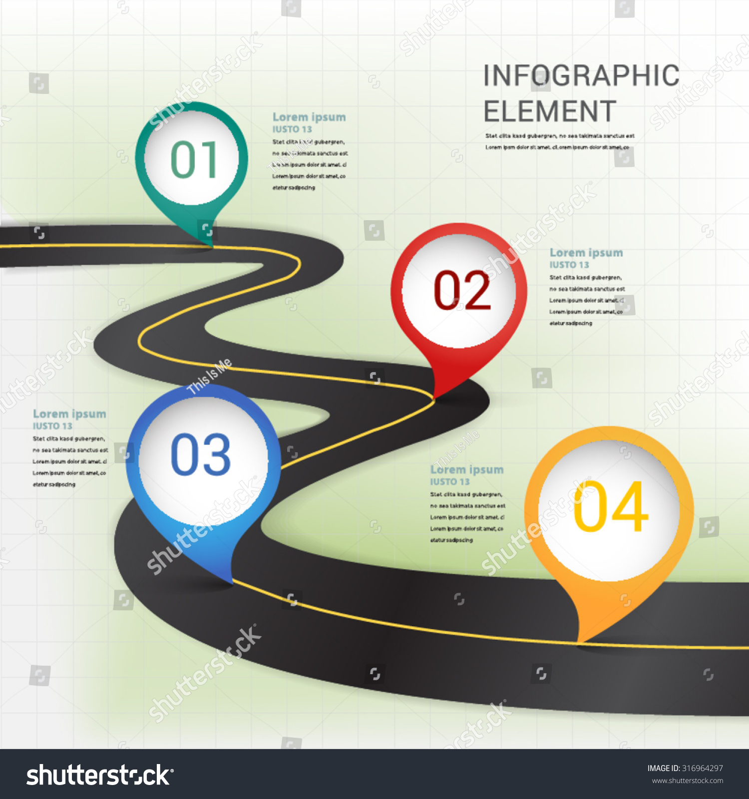Abstract Modern Location Mark On Road Vector 316964297 – Blank Road Map