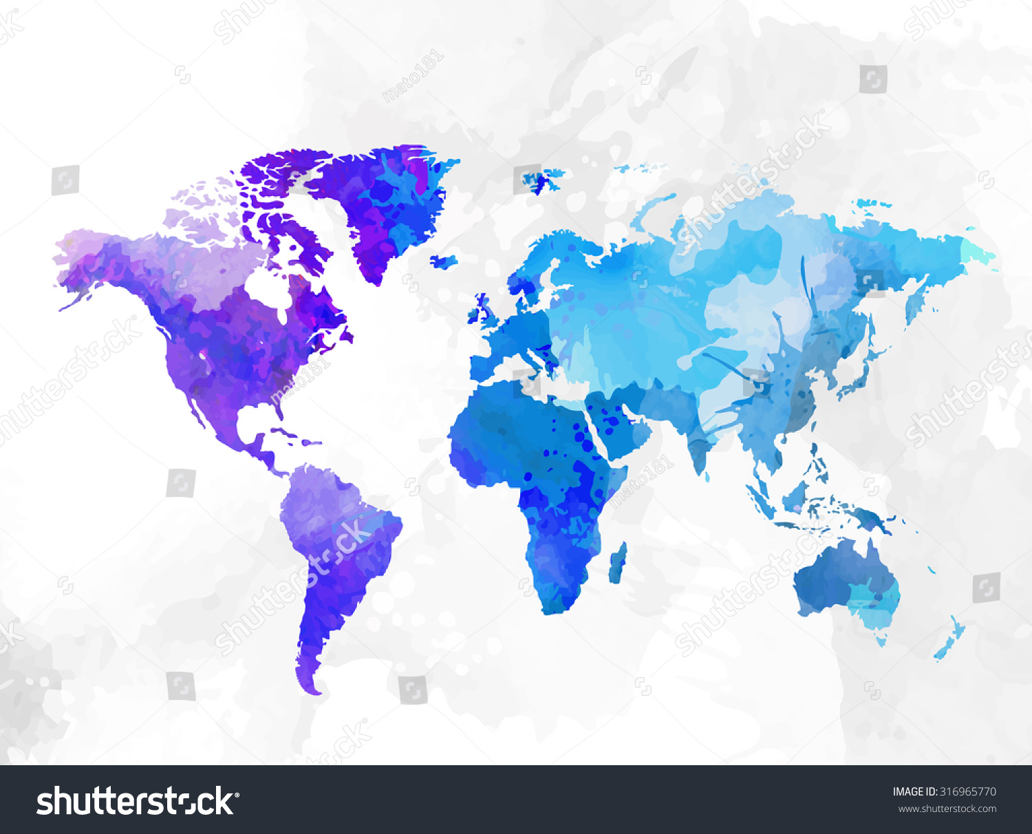 World map watercolor background vector illustration vectores en world map watercolor background vector illustration gumiabroncs Choice Image