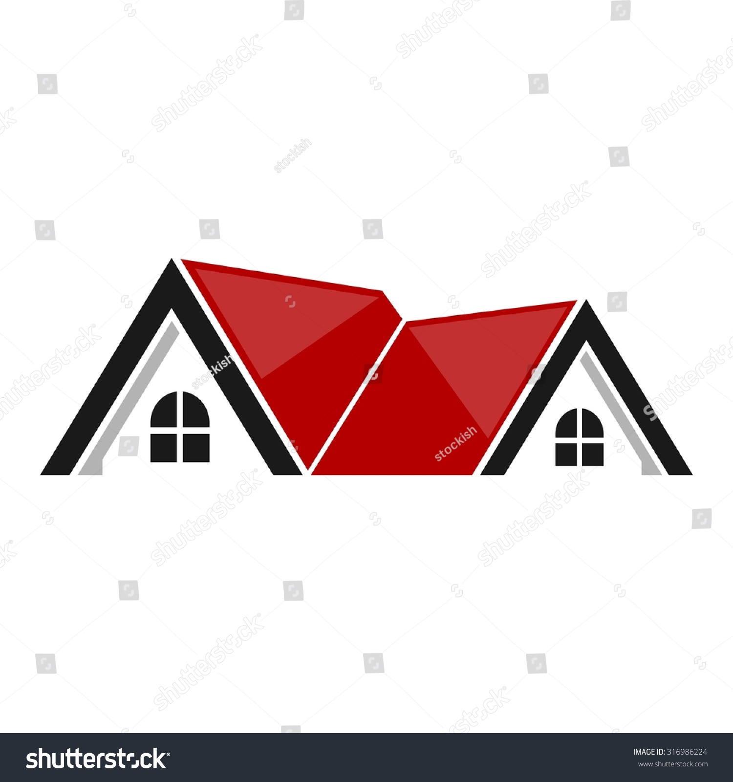 Real Estate Symbols Roofs Houses Buildings Stock Vector Hd Royalty