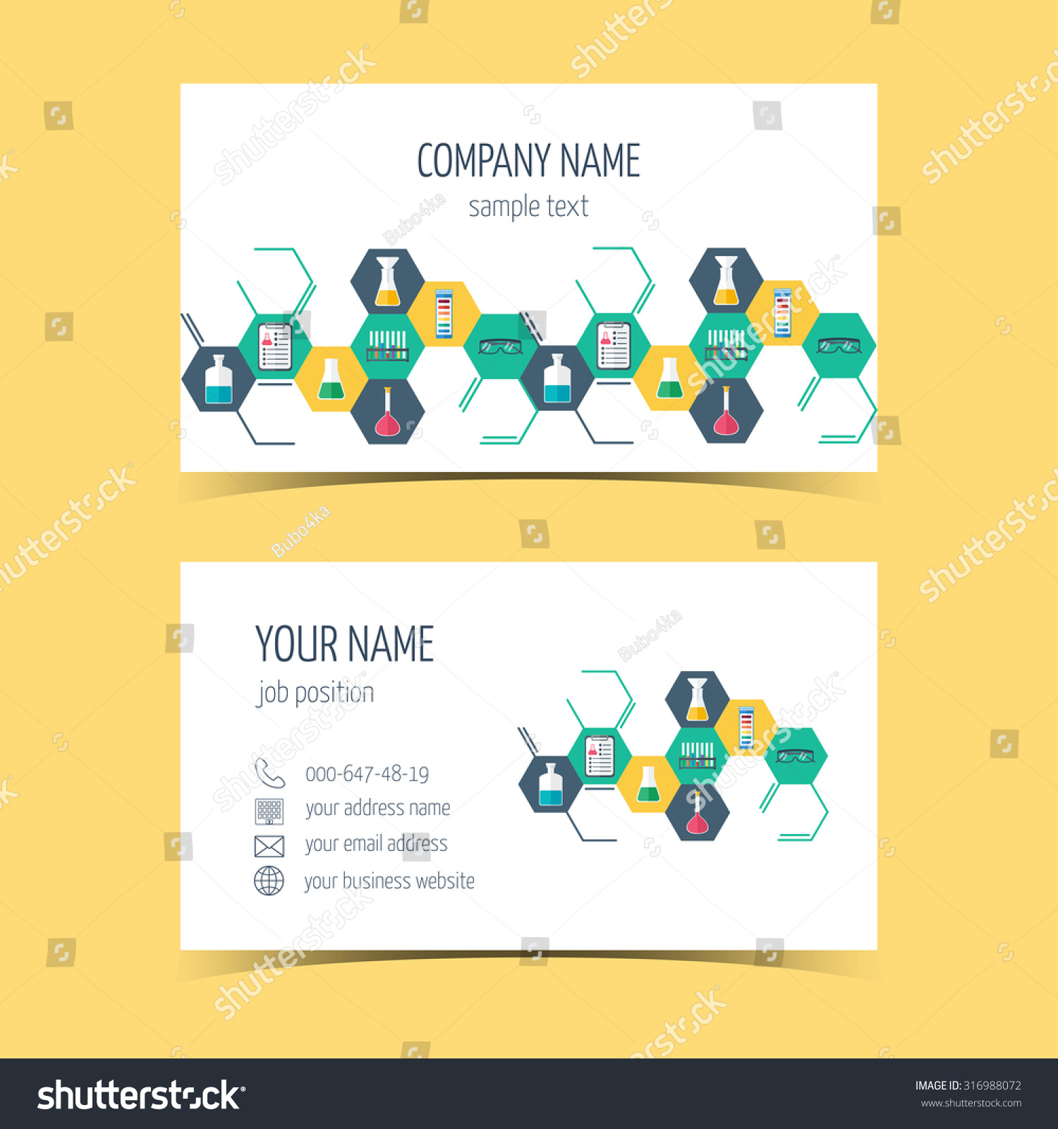 Business Cards Chemical Scientific Companies Promotional Stock ...