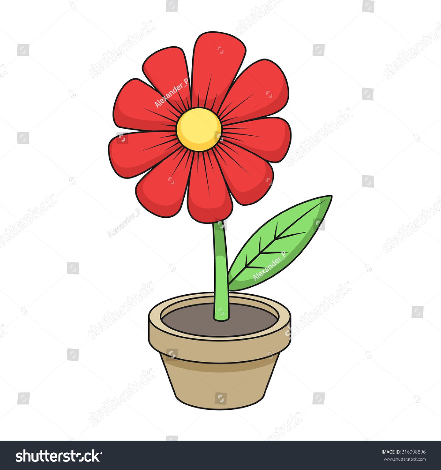 flower cartoon vector illustration stock vector 316998896