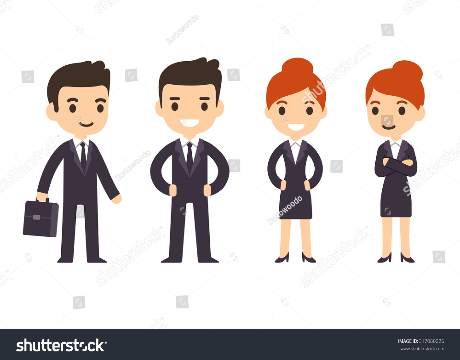 young business people man woman cartoon stock vector