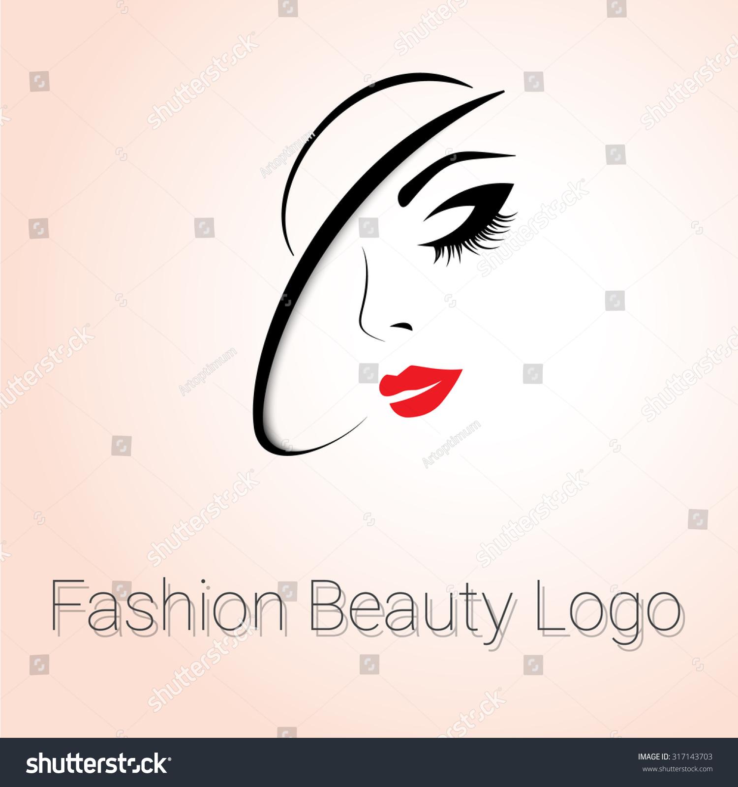 Fashion Beauty Logo Woman Hat Stock Vector 317143703