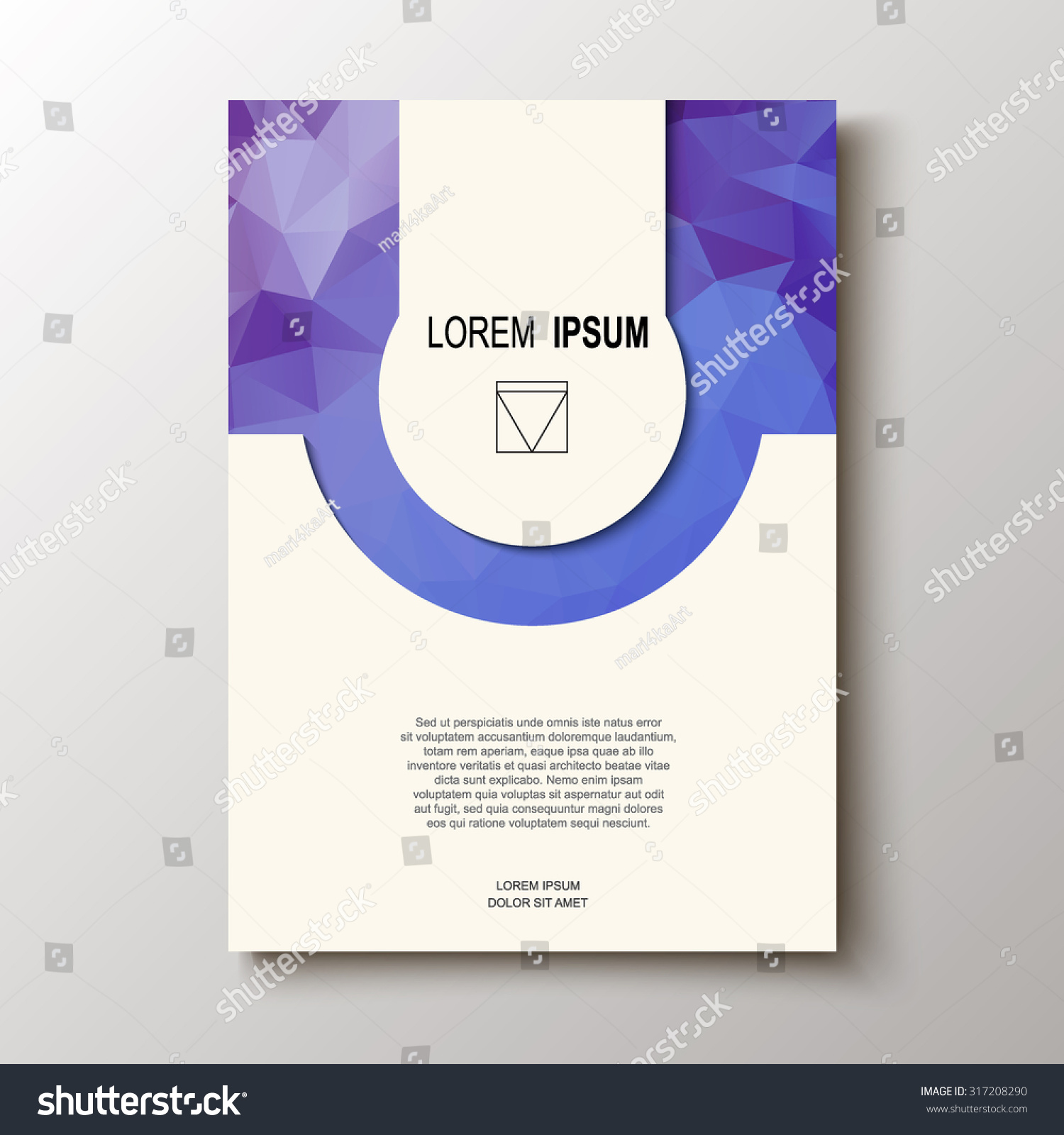 Abstract Design Title Page Cover Magazine Stock Vector