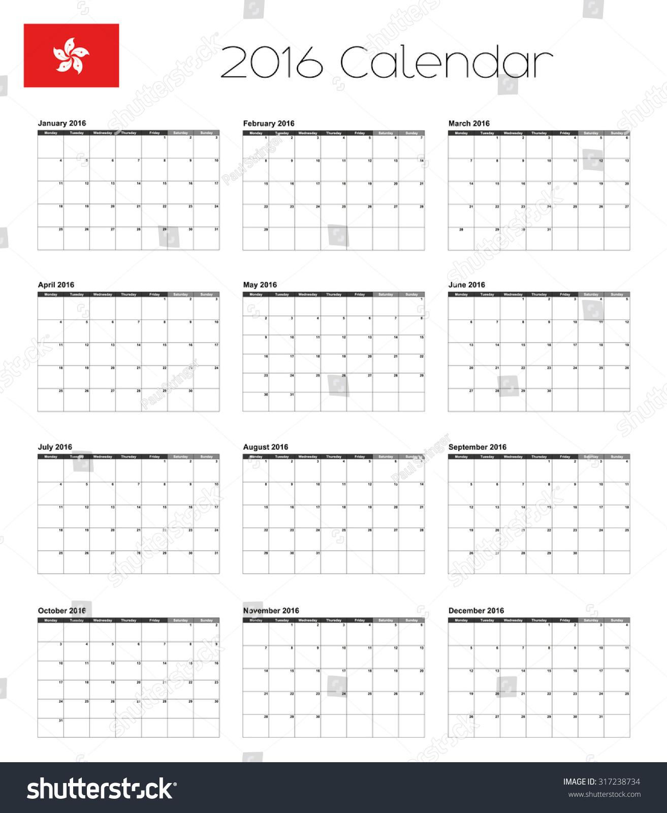 Weekly Calendar Uae : Calendar flag hong kong stock illustration