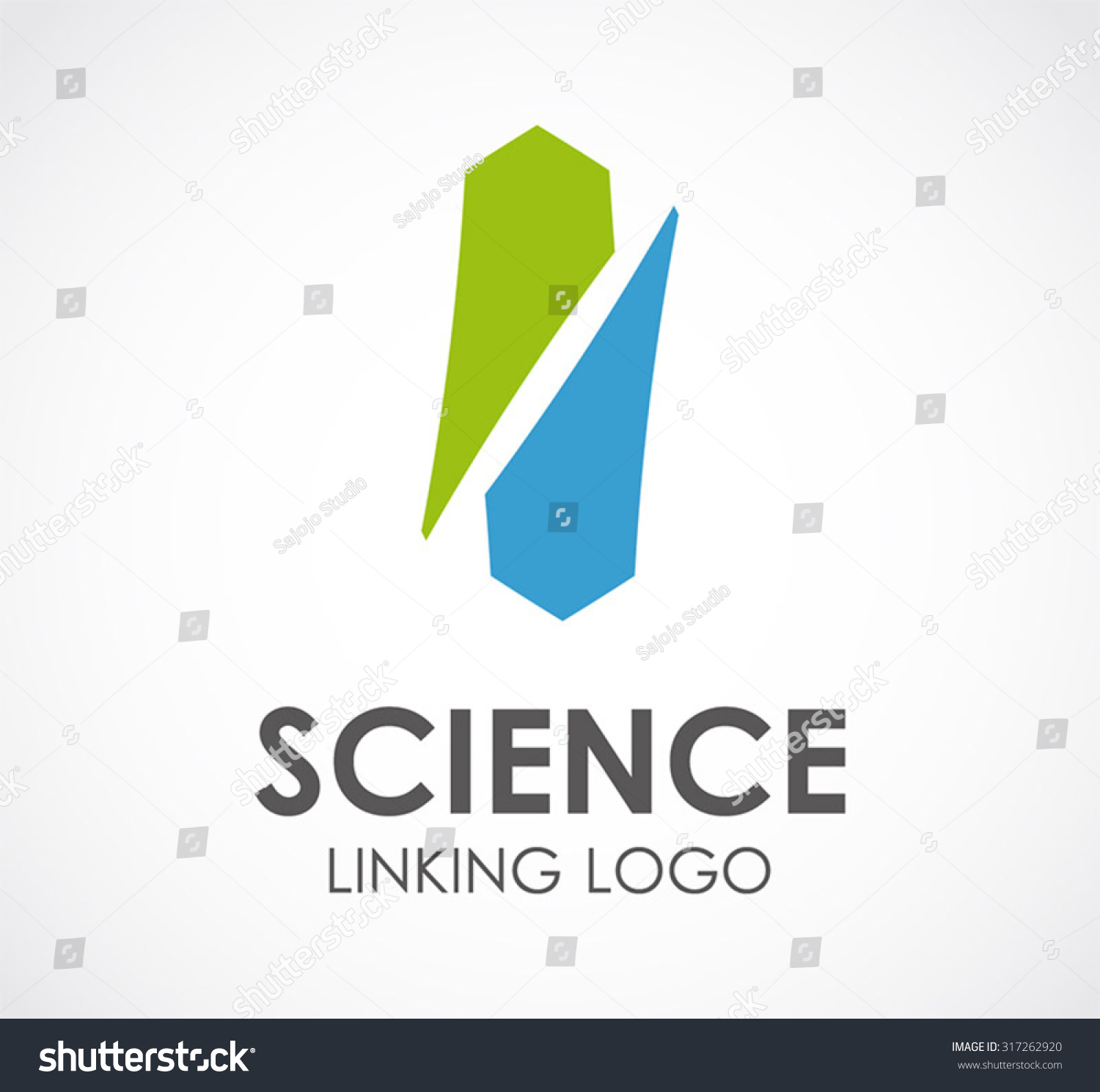 Science Link Triangle Connect Abstract Vector Vector – Company Bio Template