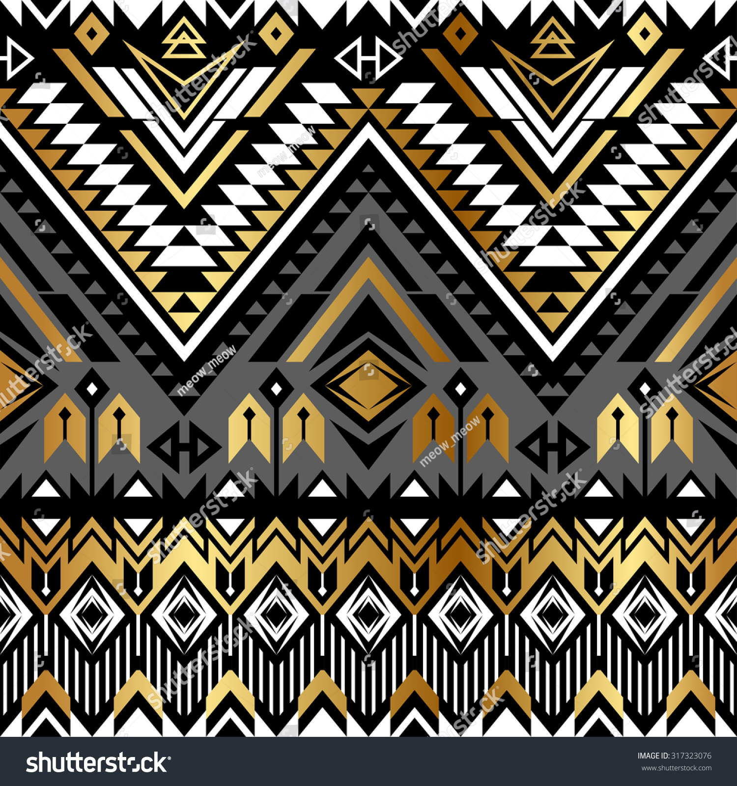 Tribal Navajo Ornamental Seamless Pattern Aztec Abstract Geometric Print Ethnic Hipster Backdrop It