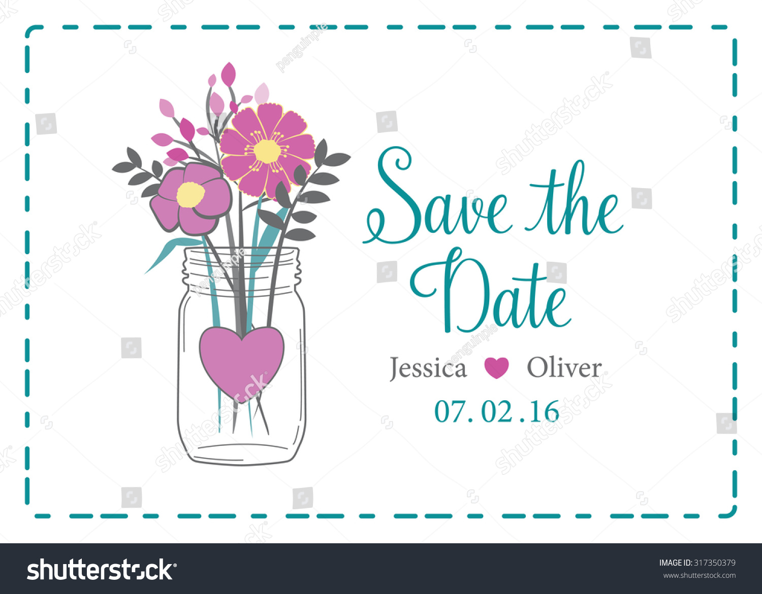wedding save date reminder invitation pink stock vector royalty