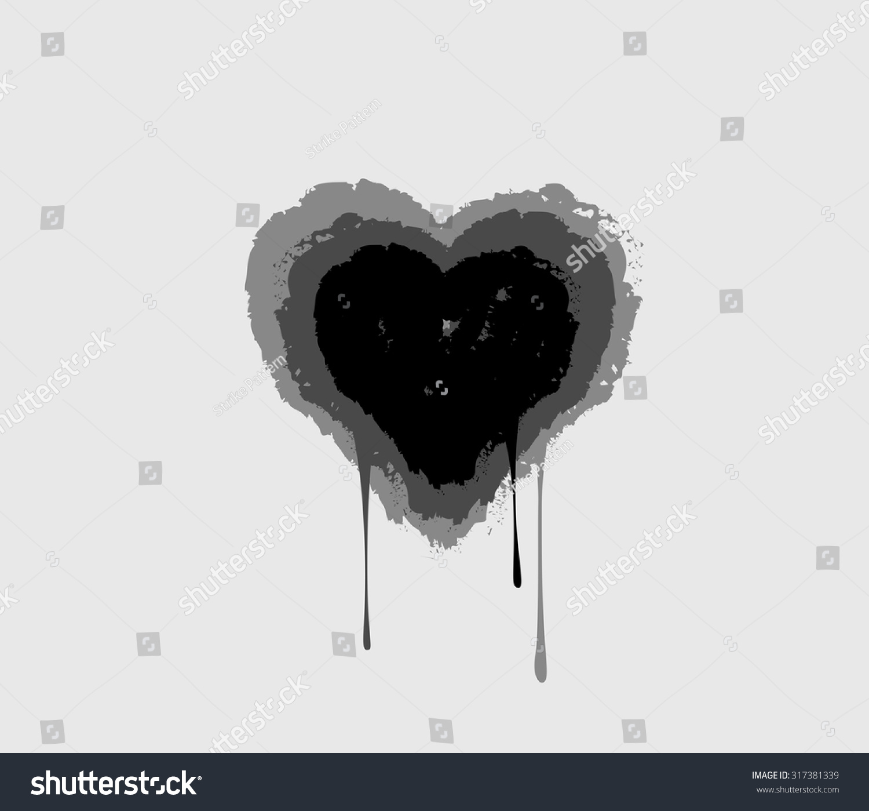 Black bleeding heart heart melting drops stock vector 317381339 black bleeding heart heart melting in drops love symbol buycottarizona