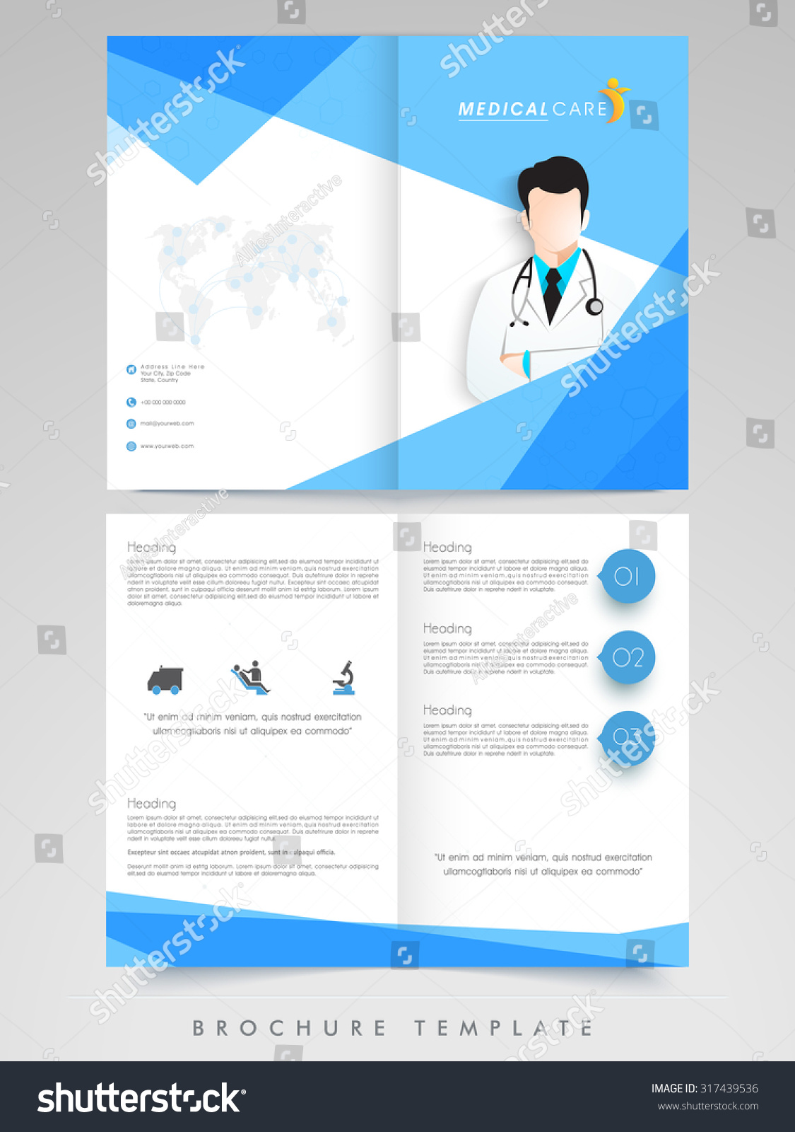Creative brochure template or flyer design with for Creative brochure template