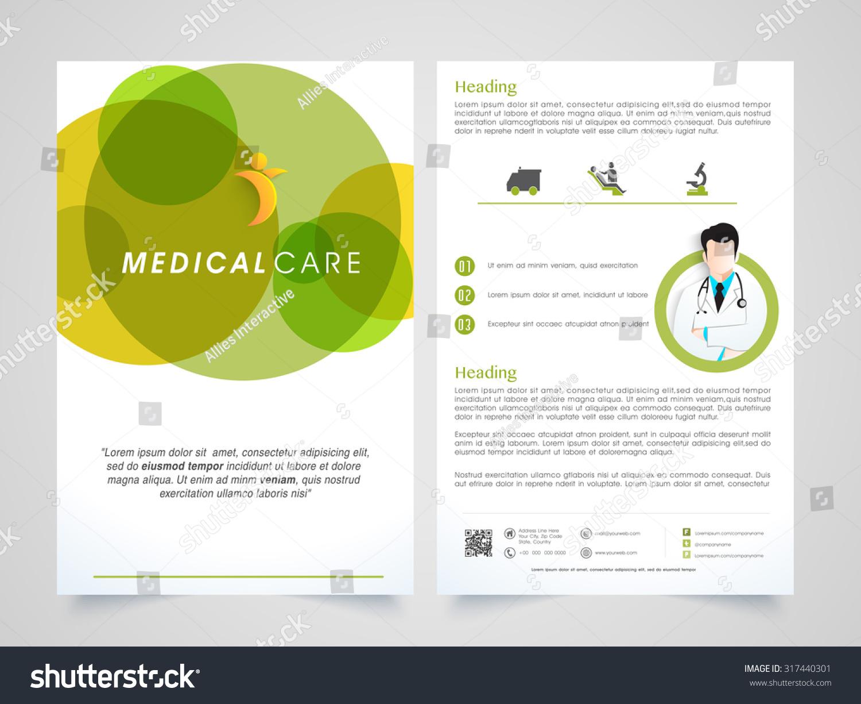 health care brochure template - creative medical care brochure template flyer stock vector