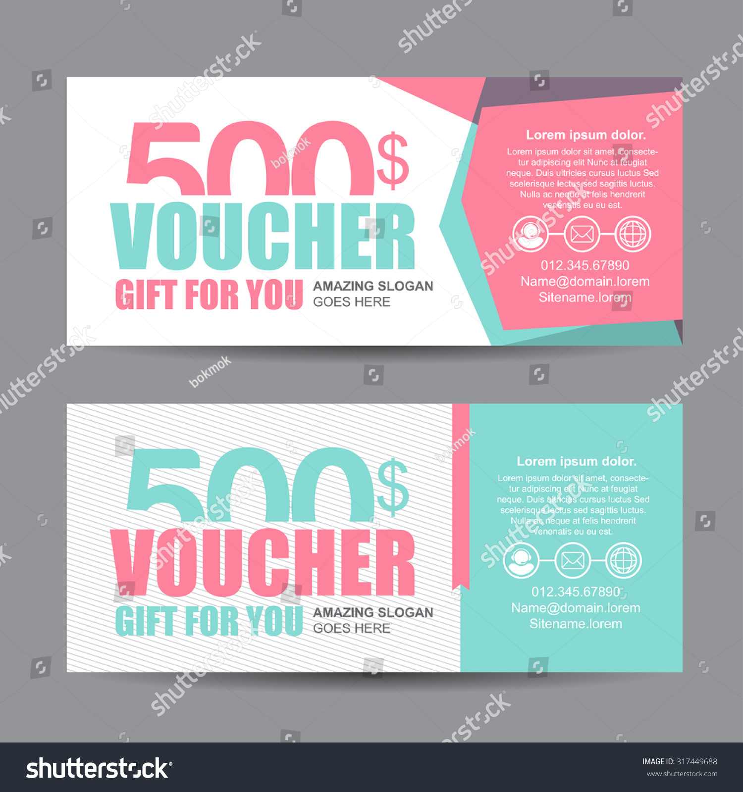 Voucher Template With Colorful Pattern Cute Gift Voucher – Cute Gift Certificate Template