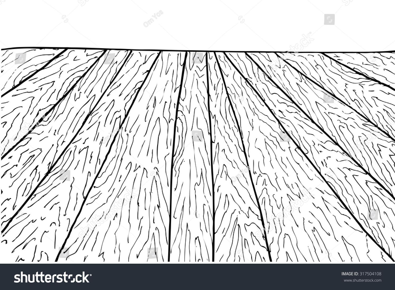 Clip Art Carpet And Flooring : Hand draw sketch perspective wooden floor stock vector