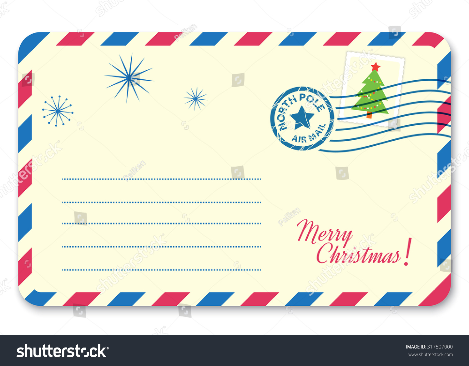 Template New Years Letter Santa Claus Stock Vector (Royalty Free ...