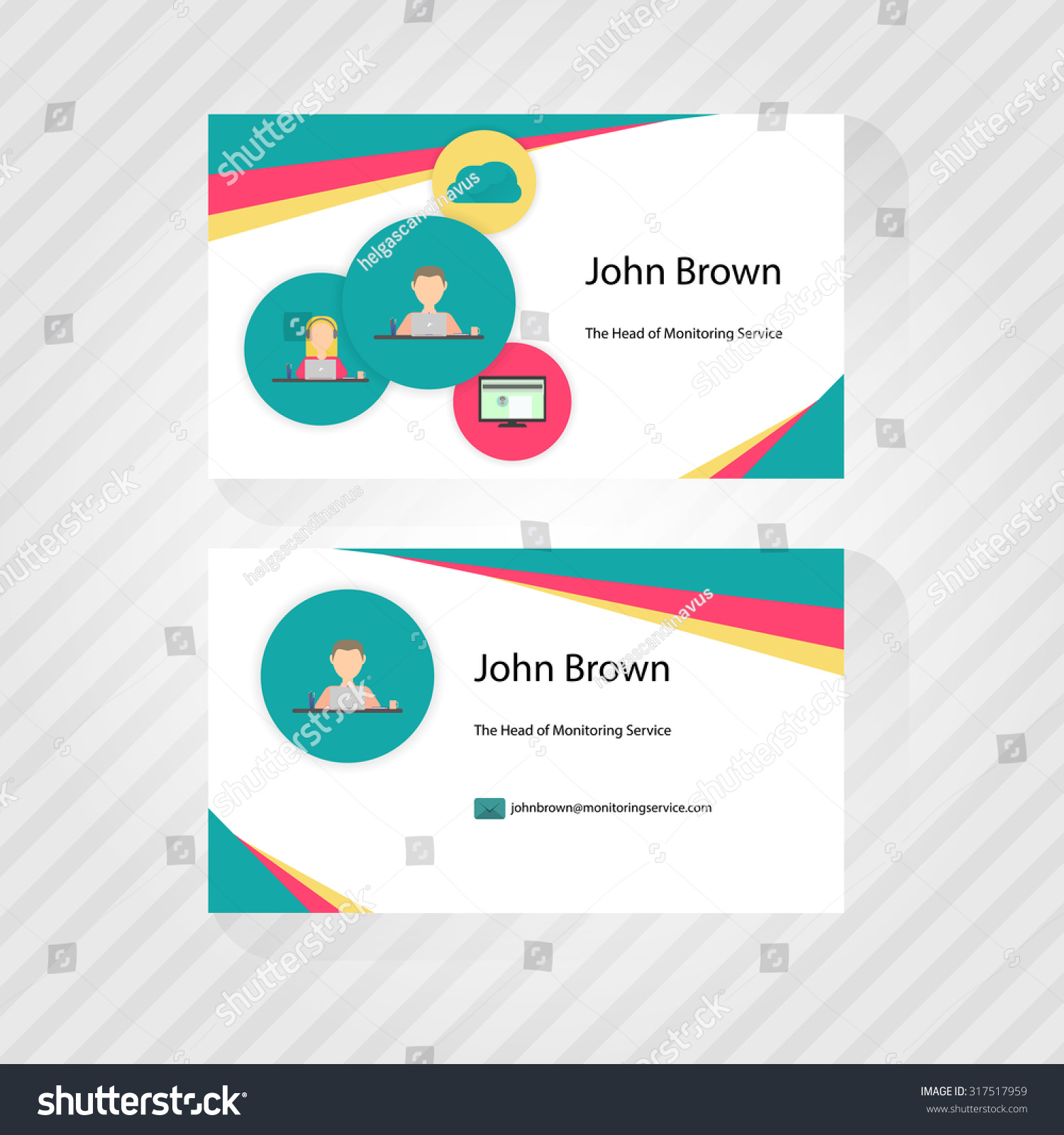 Business Card Trendy Flat Design Icons Stock Vector HD (Royalty Free ...