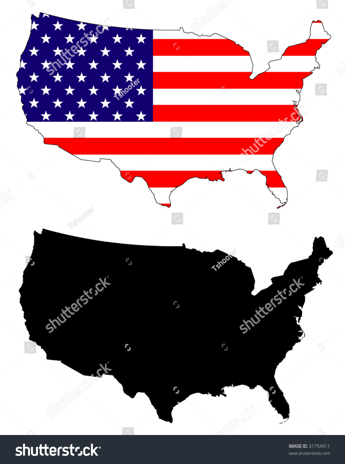 Drawing Map Flag Usa Stock Illustration  Shutterstock - Drawing of usa map