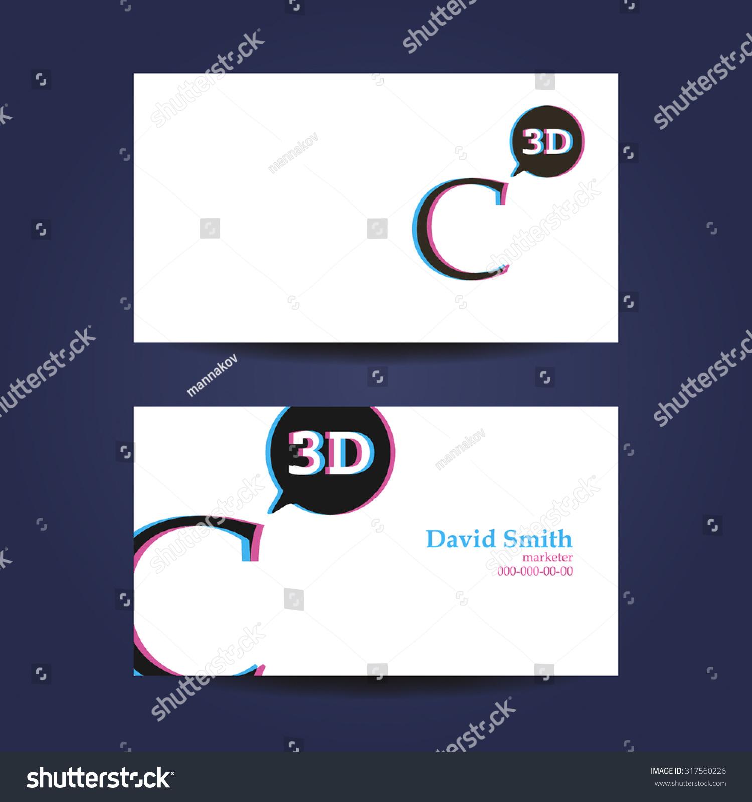 Business card template letter c 3 d stock vector 317560226 business card template letter c 3 d stock vector 317560226 shutterstock colourmoves
