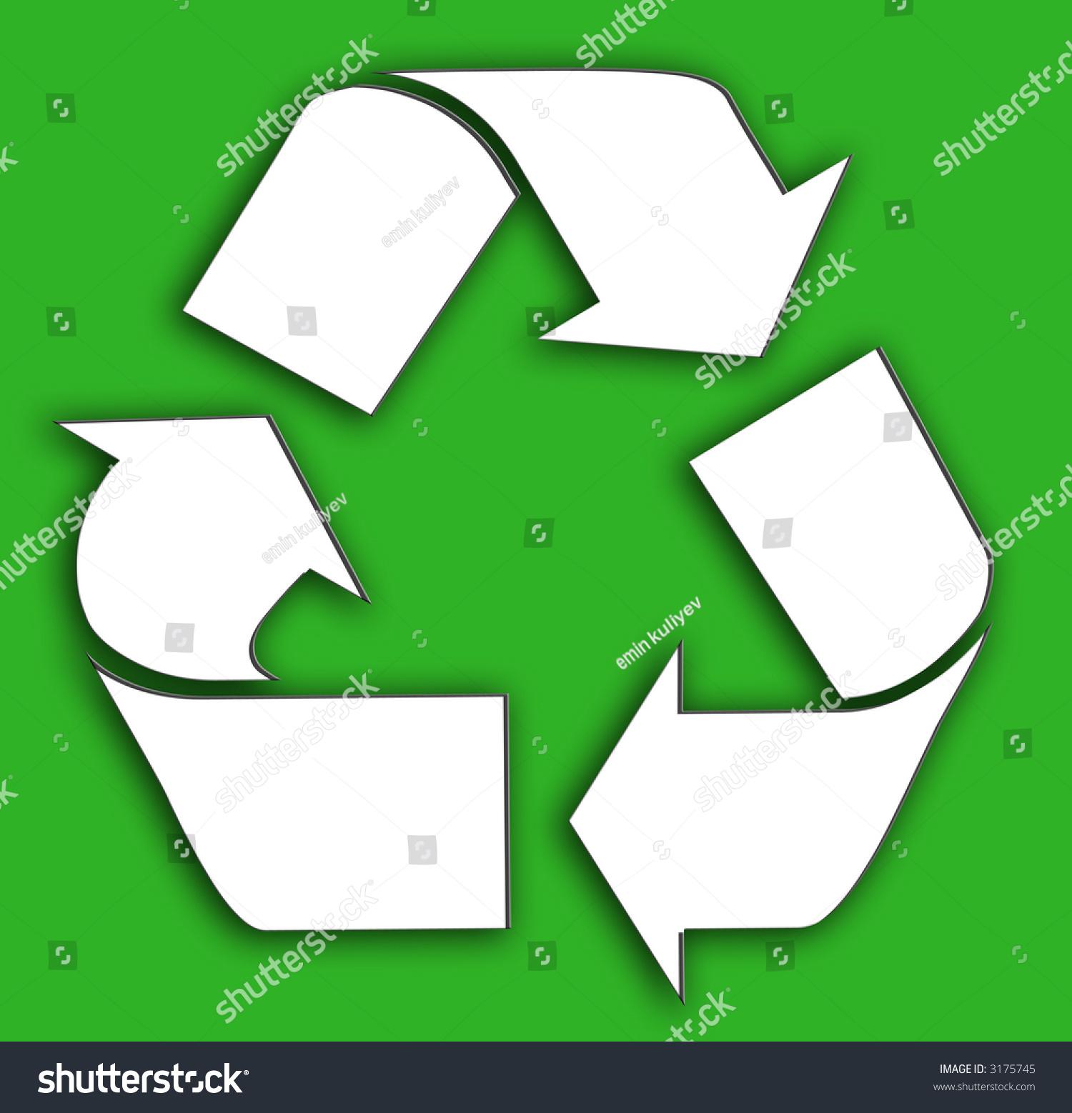 White recycle symbol stock illustration 3175745 shutterstock white recycle symbol buycottarizona Choice Image