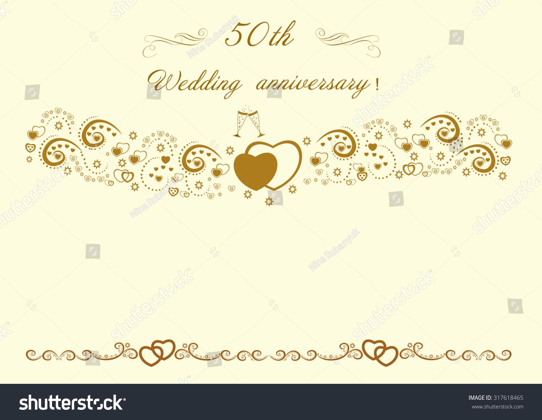 50th Wedding Anniversary Invitation Stock Illustration 317618465 ...