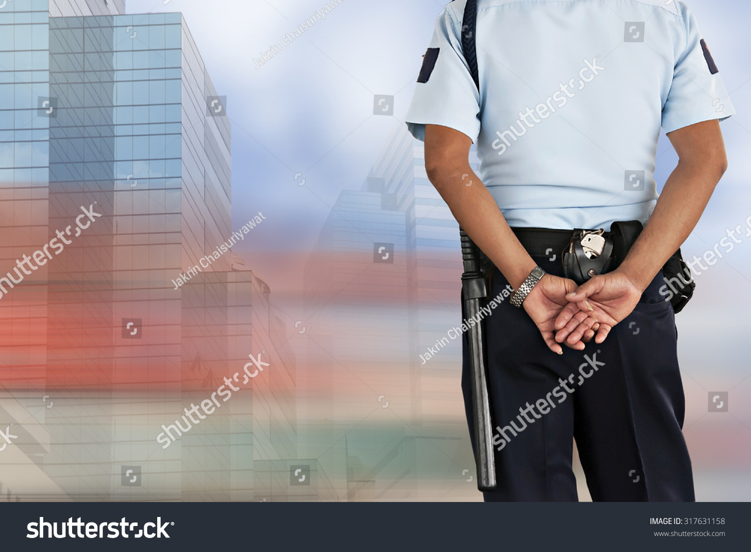 Security guard stock photo 317631158 shutterstock - Security guard hd images ...