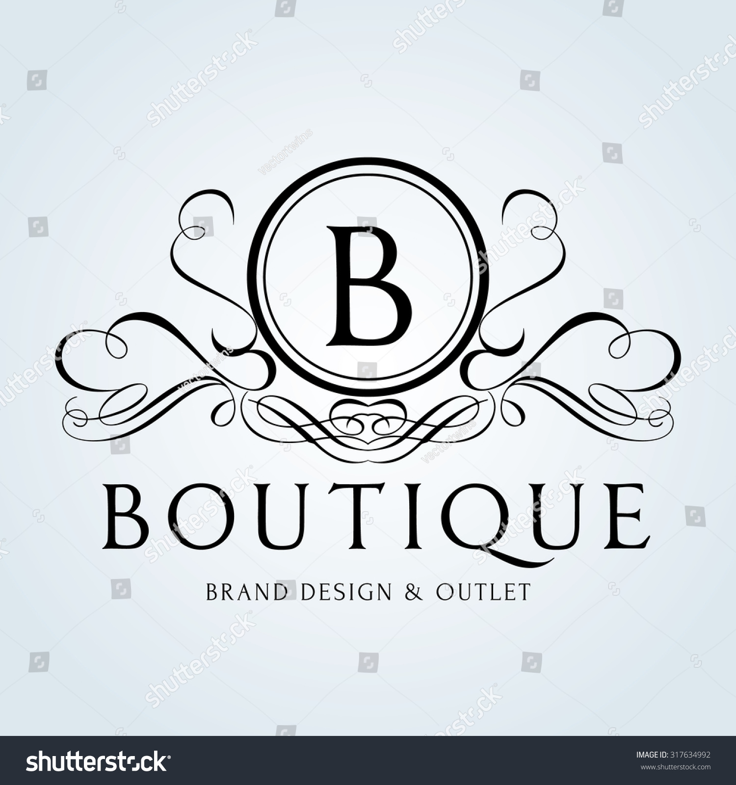 Luxury vintage crests logo crest business sign identity for Boutique hotel logo