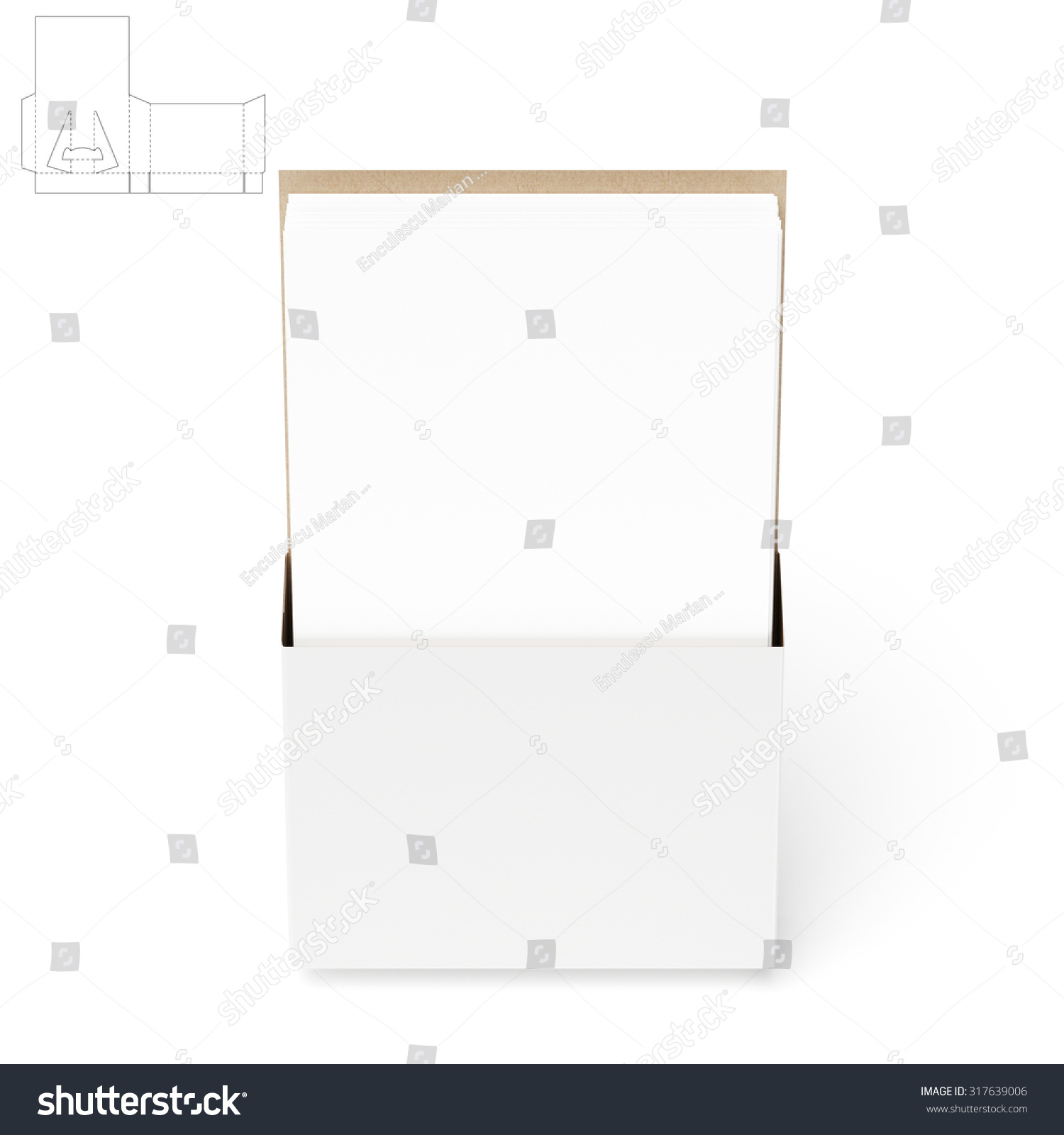 Counter Display Stand Die Cut Templates Stock Illustration 317639006 ...