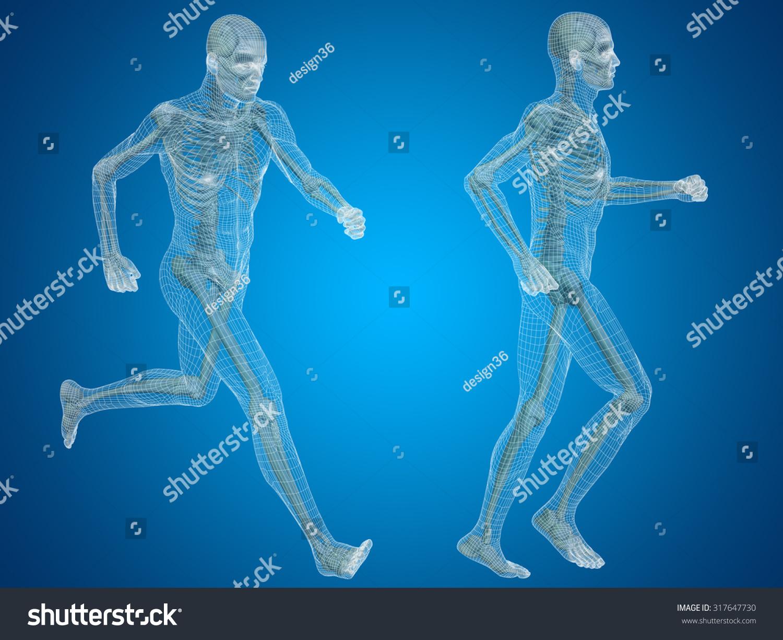 Concept Conceptual 3 D Human Man Male Stock Illustration 317647730