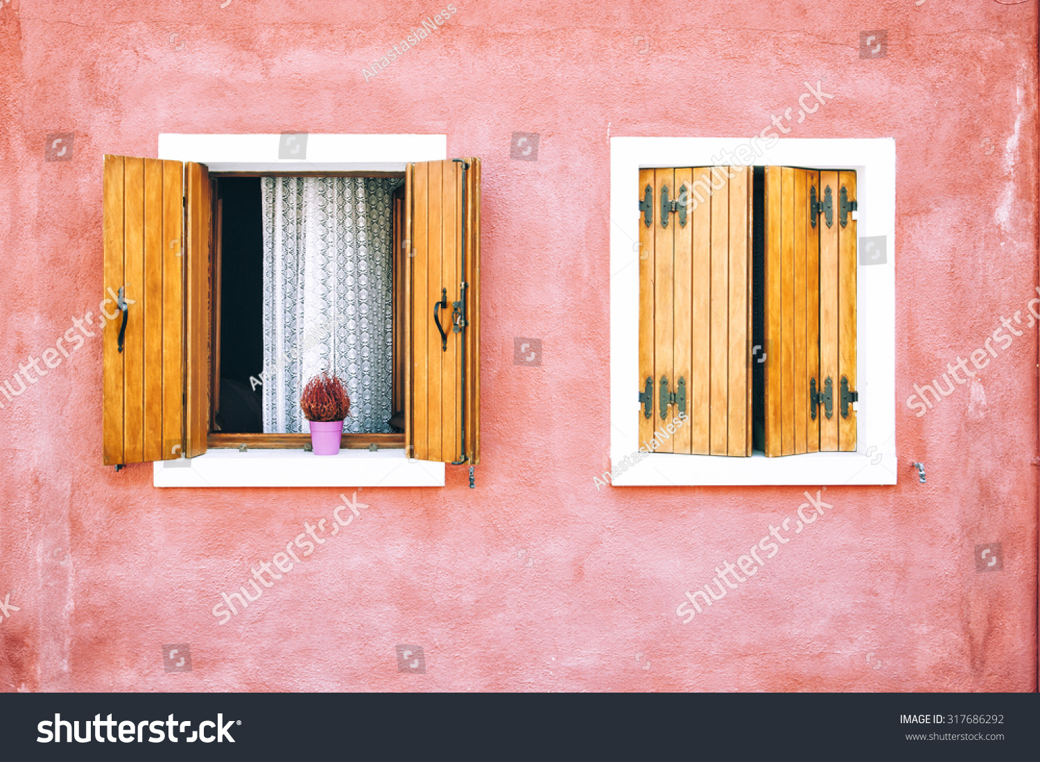 Beautiful Colorful House Facade On Burano Stock Photo (Edit Now ...