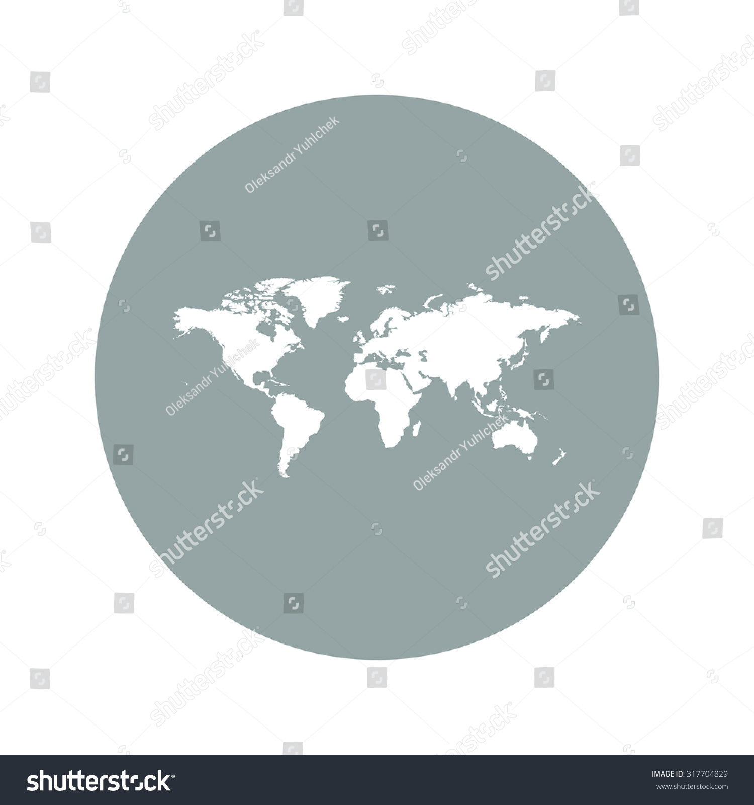 World map illustration flat design style stock vector 317704829 world map illustration flat design style eps 10 gumiabroncs Images