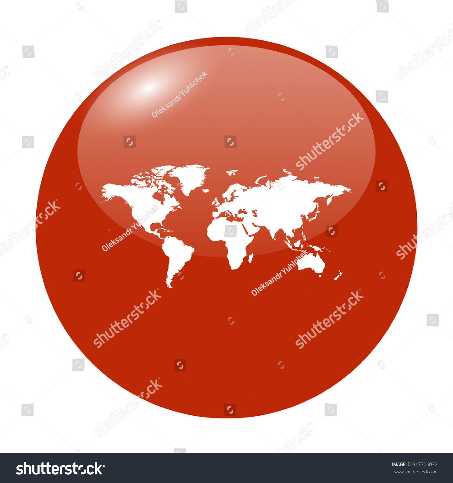World map illustration flat design style stock vector 317706032 world map illustration flat design style eps 10 gumiabroncs Images