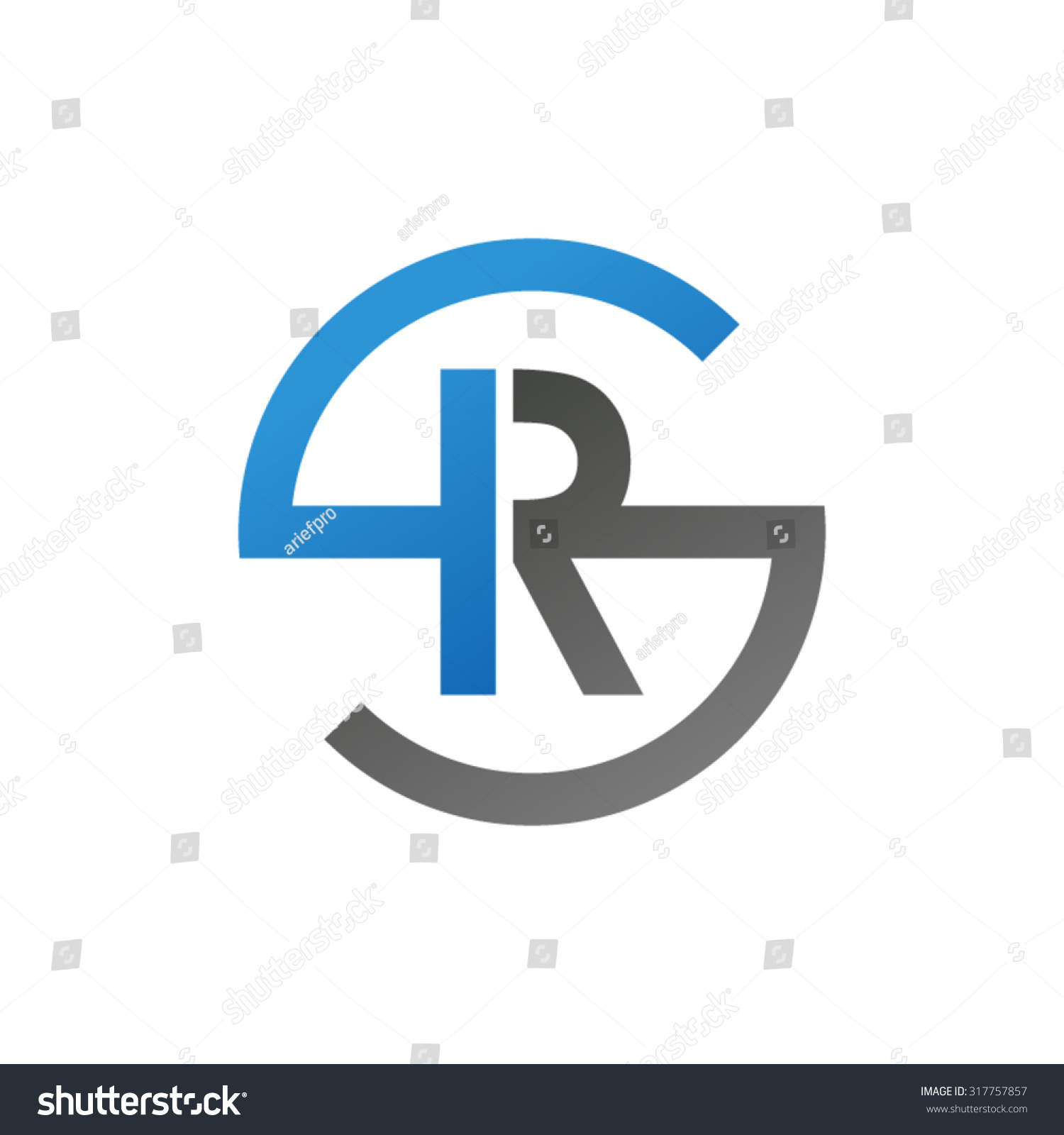 Rs sr initial company circle s stock vector 317757857 shutterstock rs sr initial company circle s logo blue buycottarizona Image collections