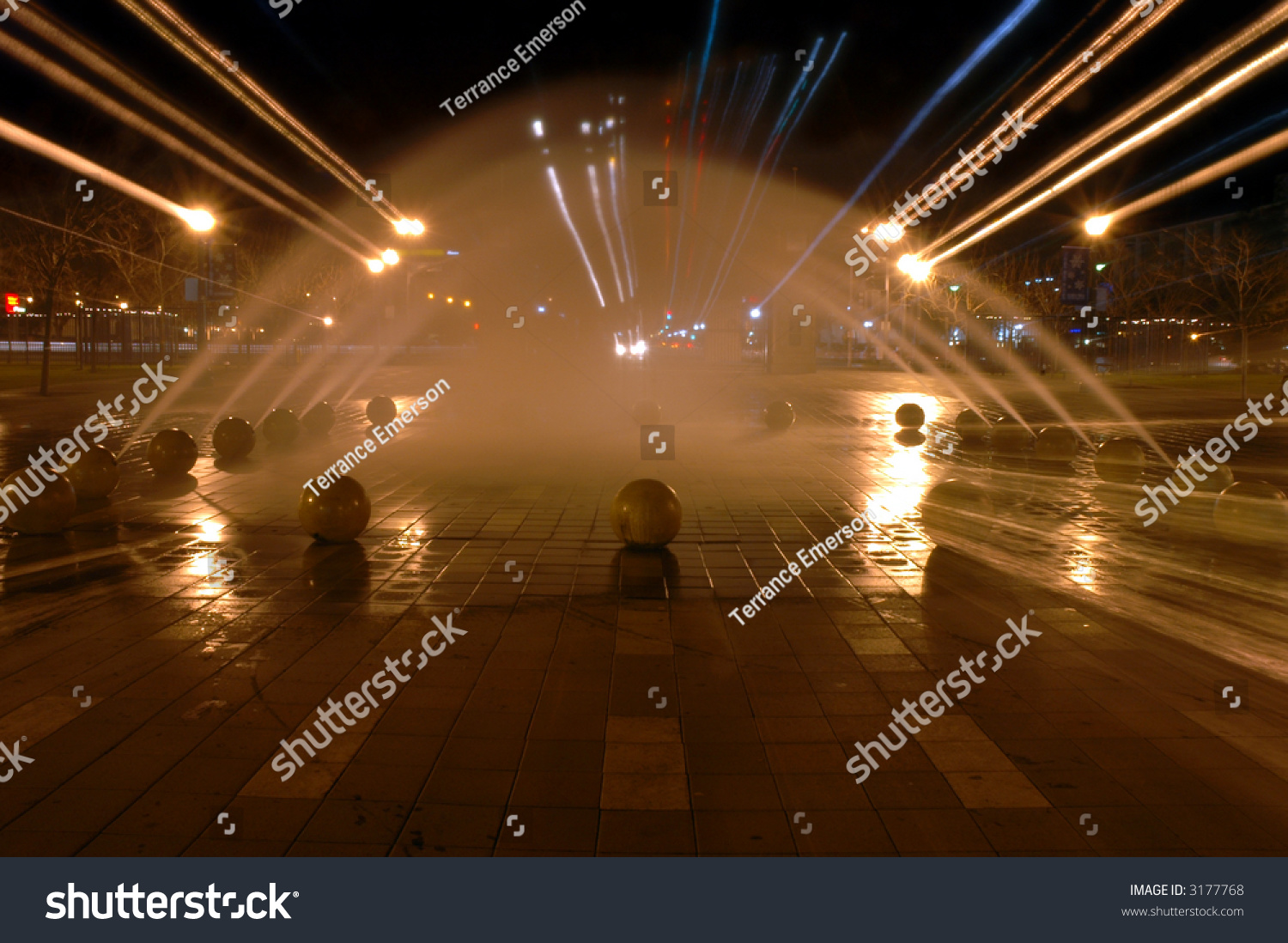 Radical Tunnel Effect With Light Streaks, Arcs Of Spouting ...