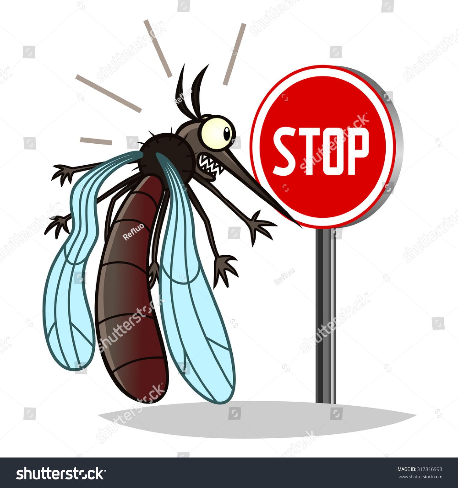 Dengue Mosquito Cartoon