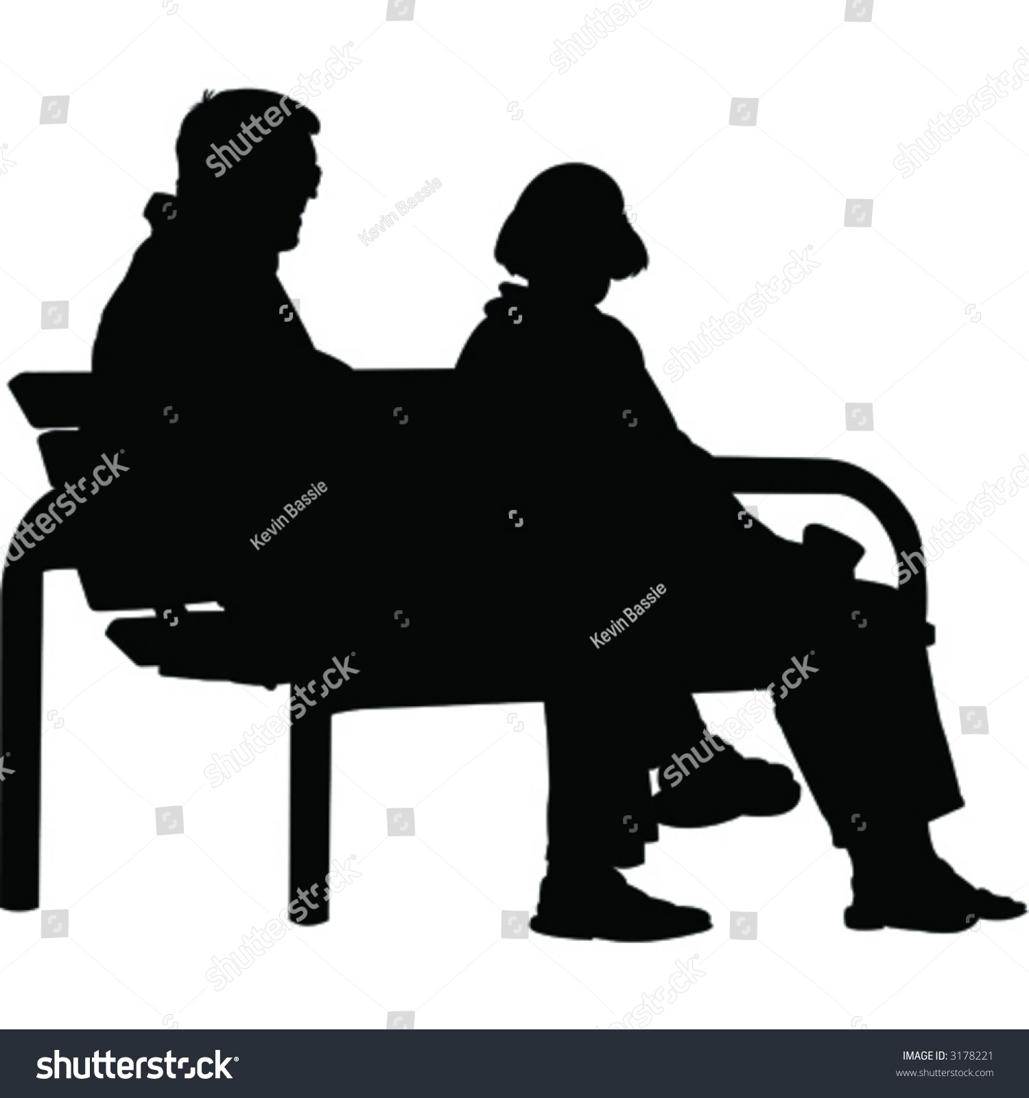 Vector People On Bench Stock Vector 3178221 - Shutterstock for People On Bench Silhouette  174mzq